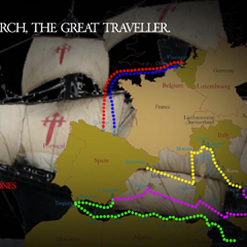 las rutas de Carlos V